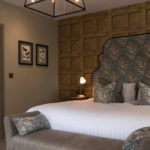 Belmont Fine Arts Contract Interiors bedroom design in greys and browns