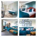 Belmont Fine Arts contract interiors - blue colour scheme